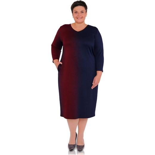 3b960da8536 Sukienka wielokolorowa z elastanu w Domodi