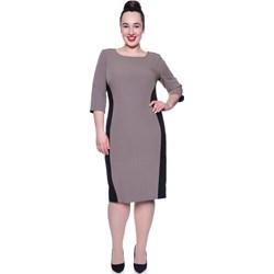 8d7be2af45 Sukienka prosta z długimi rękawami