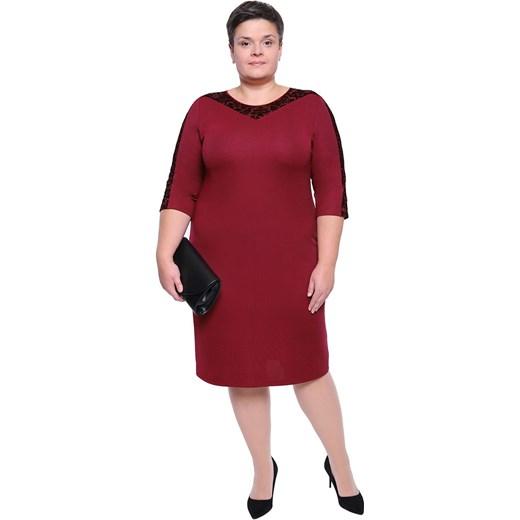 6599a5296ec Sukienka z okrągłym dekoltem z elastanu na wiosnę w Domodi