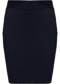 Dresowa spódnica w kolorze ciemnego granatu   Modne Duże Rozmiary - kod rabatowy