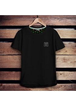 Koszulka męska z haftowaną naszywką WŁÓCZYKIJ - czarna M   Szwendam się - kod rabatowy