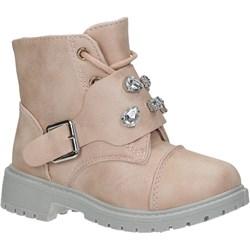 a51dfd67 Buty zimowe dziecięce różowe Casu wiązane trzewiki