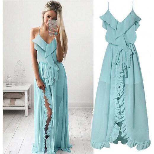 c9df5cbea0 Piękna szyfonowa sukienka maxi z falbankami magmac.pl w Domodi
