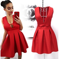 2922d490bf Sukienka Magmac mini elegancka rozkloszowana czerwona