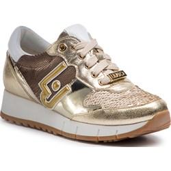 60d22a06 Sneakersy damskie Liu•jo na koturnie ze skóry ekologicznej ...