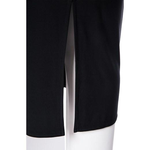948e4453 Elastyczna czarna sukienka z rozcieciem modne-duze-rozmiary czarny elastan