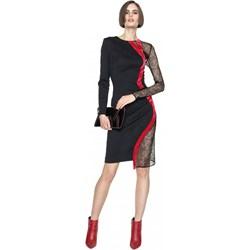 1cbcf61c57 Sukienka Aneta Kręglicka X L af asymetryczna midi z długimi rękawami