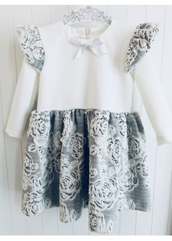 Sukienka - Szare Skrzydełka - Róże Lovik Style For Kids  Lovik Style - kod rabatowy