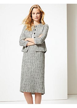 Cotton Blend Checked Pencil Skirt Marks & Spencer  Marks&Spencer - kod rabatowy