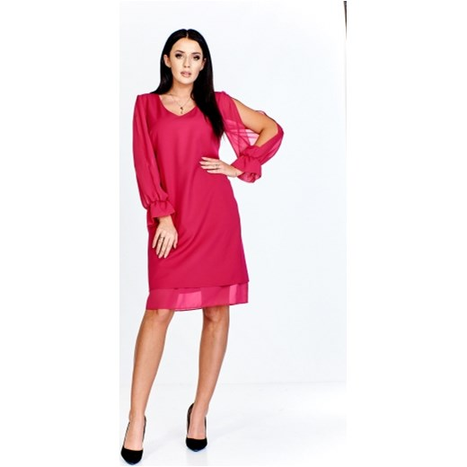 1df4f5e0ad23 Sukienka Verona bez wzorów na wiosnę midi z długim rękawem w Domodi