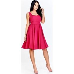 0d52b46054 Sukienka Poker z gorsetowym dekoltem na sylwestra midi na ramiączkach bez  wzorów