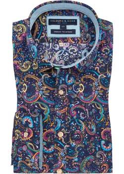 Colours & Sons, Koszula sportowa w modny wzór, bardzo długa Niebieski  Colours & Sons Hirmer - kod rabatowy