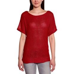 d83c936db0 Bluzka damska Vero Moda czerwona jesienna z okrągłym dekoltem