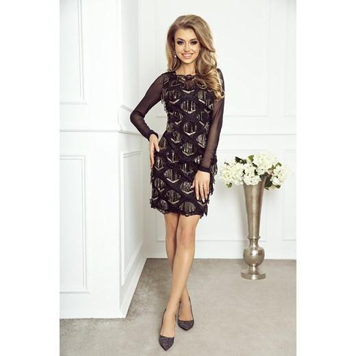 cbf52ab40f Sukienka Jestes Modna glamour mini dopasowana na bal w Domodi