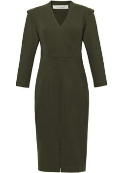 CLAIRE khaki - EDYCJA LIMITOWANA - bawełniana sukienka ołówkowa  Risk Made In Warsaw  - kod rabatowy
