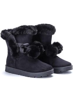 Czarne śniegowce z futerkiem Keira- Obuwie  Royalfashion.pl  - kod rabatowy