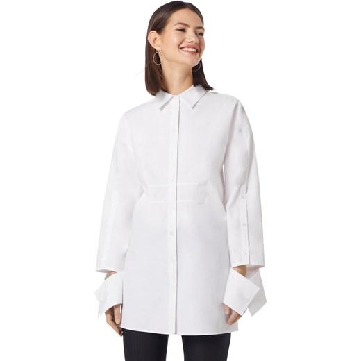 522642f031536 ... Hugo Boss koszula damska z długim rękawem z kołnierzykiem biała z ...