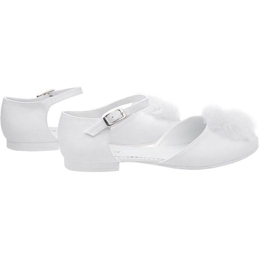 ed655566 ... Pantofelki buty komunijne dla dziewczynki KMK 221 Białe Kmk 38 promocja  NeptunObuwie.pl ...