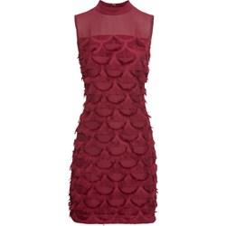 d9f8d6e486 Sukienka czerwona Bodyflirt Boutique z aplikacją bez rękawów mini na  sylwestra z golfem