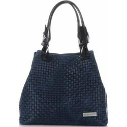 e91d90f9ea637 Shopper bag Vittoria Gotti niebieska średnia bez dodatków na ramię