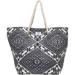 a9a2bd296509a Shopper bag Roxy bez dodatków na wakacje z nadrukiem na ramię