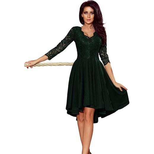 fec896301b Sukienka Numoco mini z wiskozy koronkowa z długim rękawem w Domodi