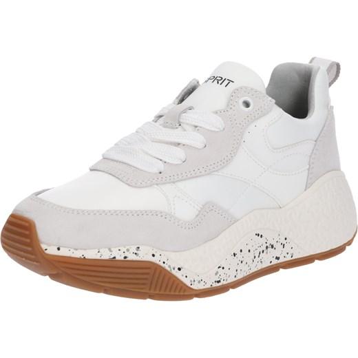 8904902daae0d Sneakersy damskie Esprit białe na lato skórzane na platformie w Domodi