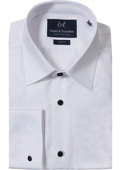 Koszula white cufflinks szary Guns&tuxedos wyprzedaż   - kod rabatowy