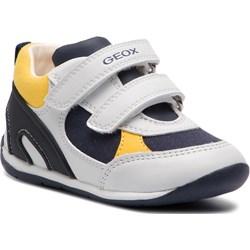 37c9555010e13 Białe buty sportowe dziecięce geox, wiosna 2019 w Domodi