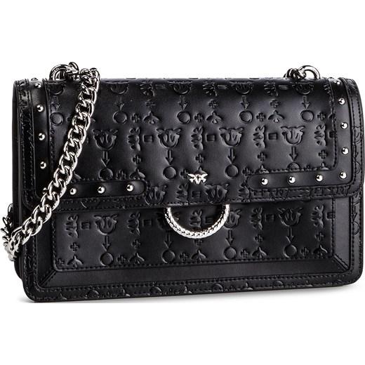 0093235359259 Kopertówka Pinko czarna mała ze zdobieniami elegancka bez dodatków w ...