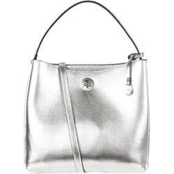 a4cd32f424578 Shopper bag L.Credi srebrna bez dodatków casualowa na ramię