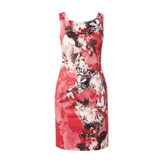 4e917feec3 Sukienka Vera Mont mini bez rękawów w kwiaty na sylwestra w Domodi