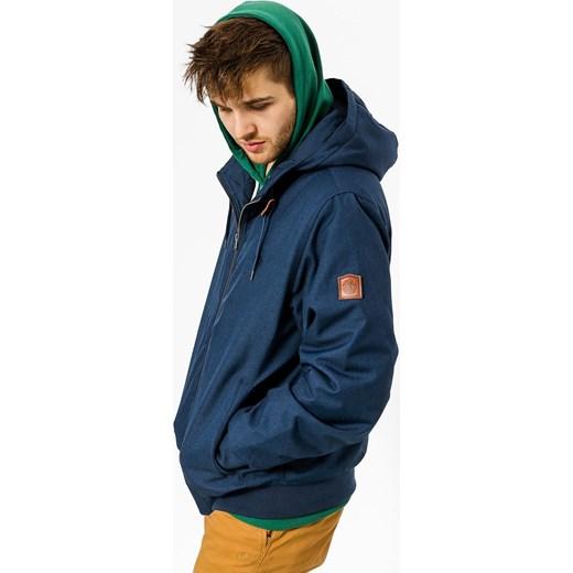 Niebieska kurtka męska Element bez wzorów Odzież Męska QG