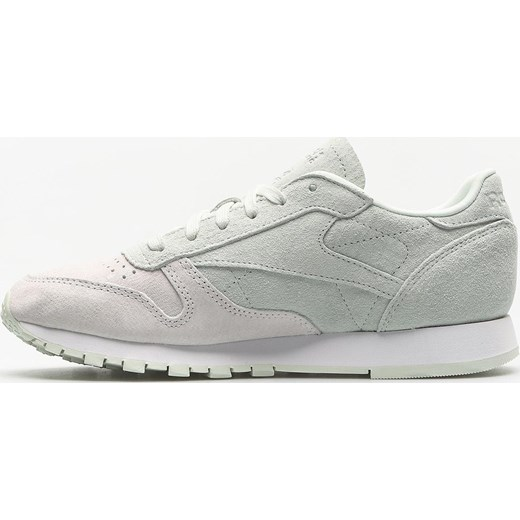 1719dbe8d00d6 ... Buty sportowe damskie Reebok sneakersy z zamszu bez wzorów na płaskiej  podeszwie ...