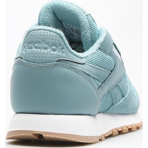ad08069408c4c ... wiązane skórzane eleganckie  Buty sportowe damskie niebieskie Reebok do biegania  classic skórzane na płaskiej podeszwie ...