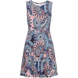 af8b7aeb1d41d0 Sukienka wielokolorowa Bodyflirt Boutique bez rękawów na urodziny z  okrągłym dekoltem