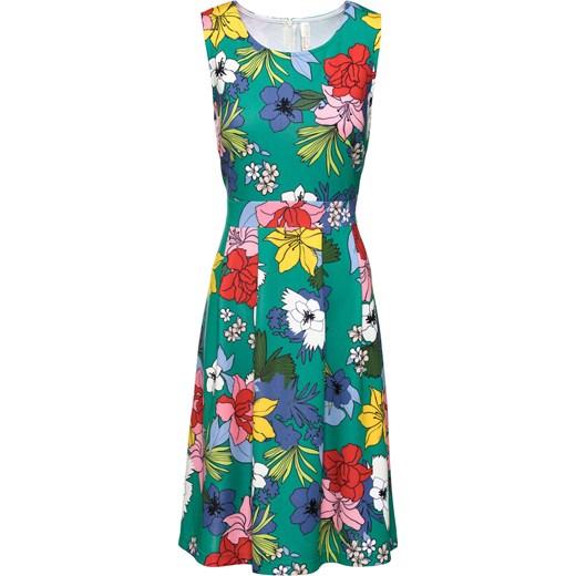 7c1c8d416a Sukienka Bodyflirt Boutique na urodziny z okrągłym dekoltem w kwiaty prosta