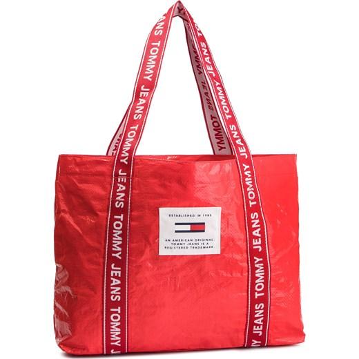 e0b6267817754 Tommy Jeans torba plażowa na ramię czerwona duża w Domodi