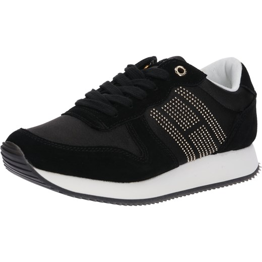 Tommy Hilfiger buty sportowe damskie sneakersy w stylu młodzieżowym na  platformie zamszowe sznurowane ... 480a0040356