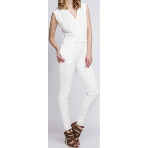ZMNIEJSZONE O 50% Lanti kombinezon damski długi biały wiosenny Odzież Damska VF biały Kombinezony damskie VBNH