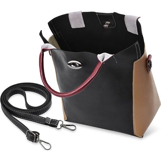 d0b8d4cb273bc Shopper bag matowa mieszcząca a6 elegancka bez dodatków na ramię