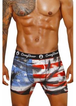 Bokserki męskie CRAZY BOXER U.S.A  Crazy Boxer Król Majtek Pierwszy - kod rabatowy
