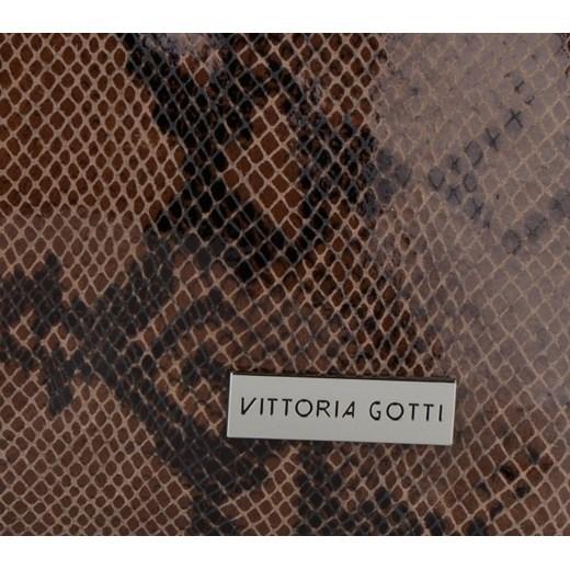 8bab57cff120c ... Vittoria Gotti Ekskluzywne Torebki Skórzane Włoski Shopper w rozmiarze  XL motyw węża Ziemisty (kolory) ...