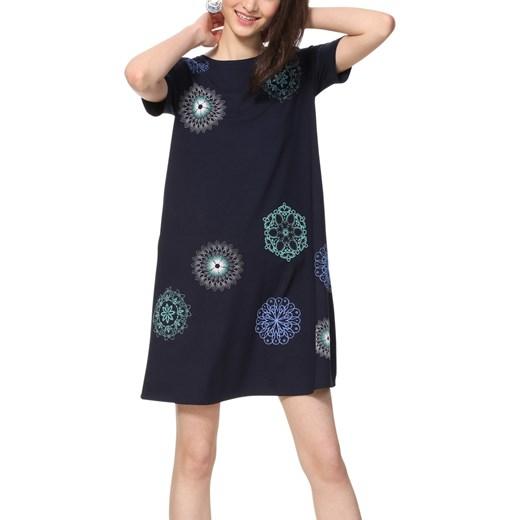 5a92fdd229 ... Sukienka Desigual casualowa na uczelnię mini z krótkimi rękawami w  abstrakcyjne wzory