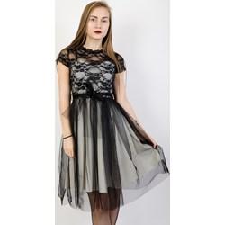 4b9ec4ee2f Sukienka Olika z krótkimi rękawami z koronką elegancka prosta