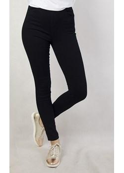 Granatowe spodnie skinny z gumą w pasie Olika  olika.com.pl - kod rabatowy