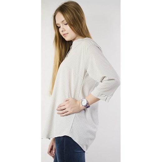 Olika bluzka damska z długim rękawem Odzież Damska VO szary Bluzki damskie CAJO w ofercie