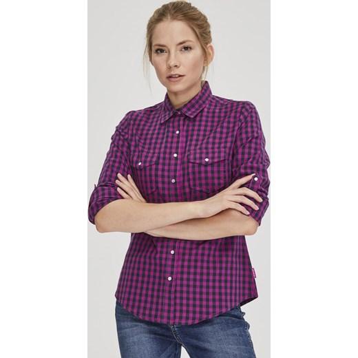 Koszula damska Diverse z długimi rękawami z kołnierzykiem
