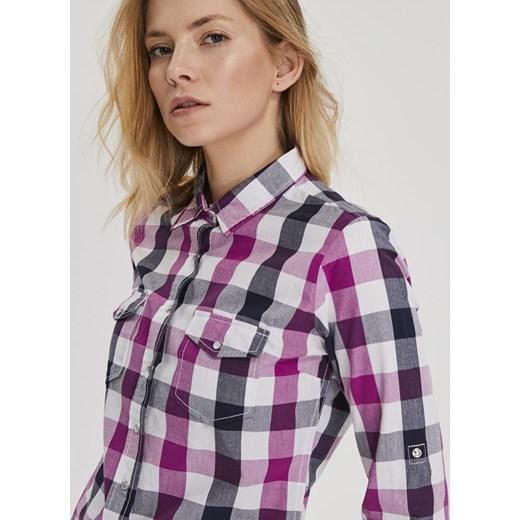 Koszula damska Diverse z długim rękawem z kołnierzykiem  yDWF7