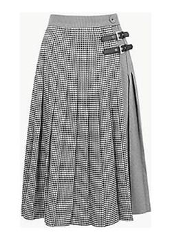 Checked A-Line Midi Skirt Marks & Spencer  Marks&Spencer - kod rabatowy